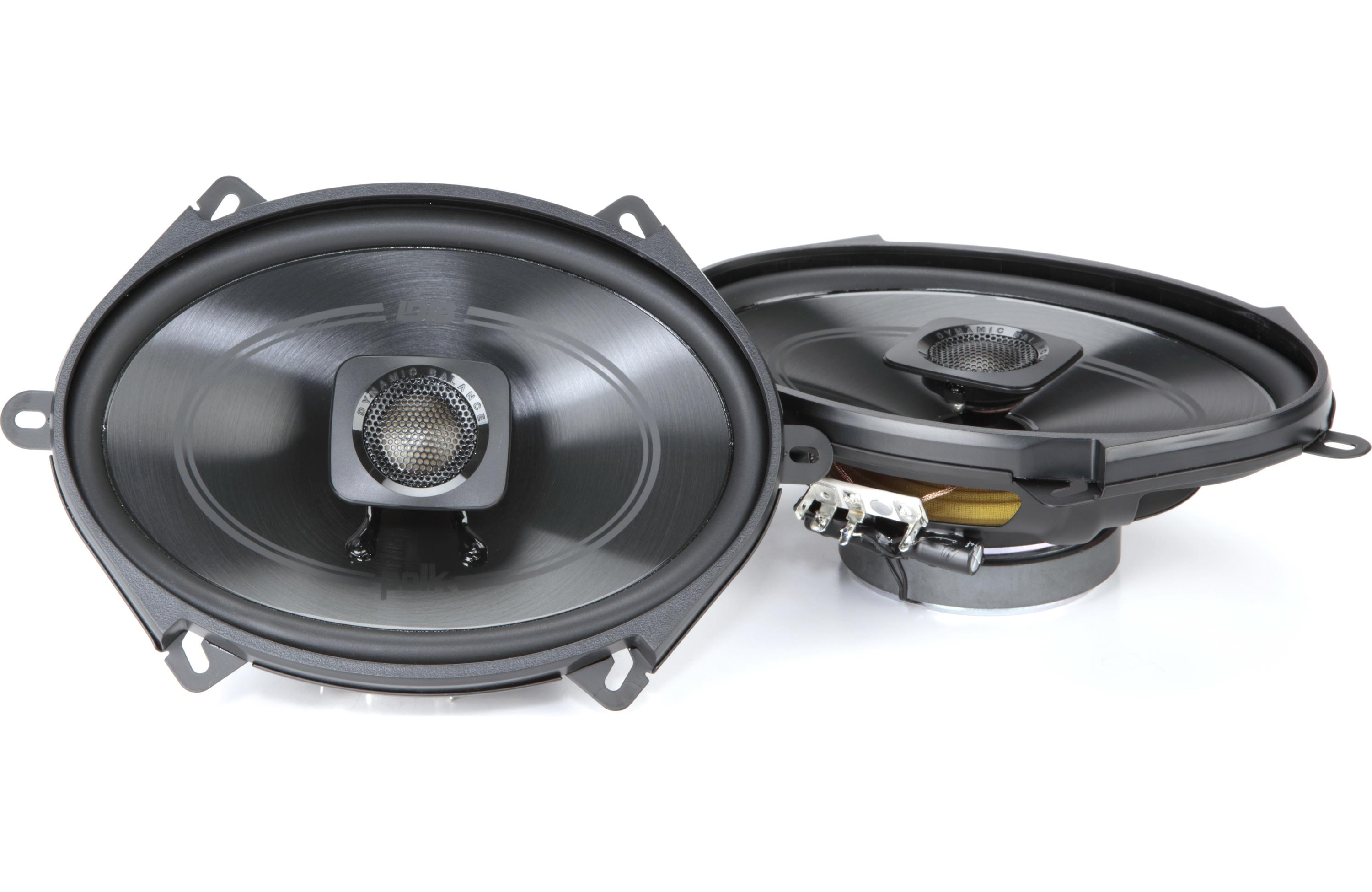 Polk Audio Db572 Db 572 2 Coaxial Car Speakers 5x7 Inch With 100w Subwoofer